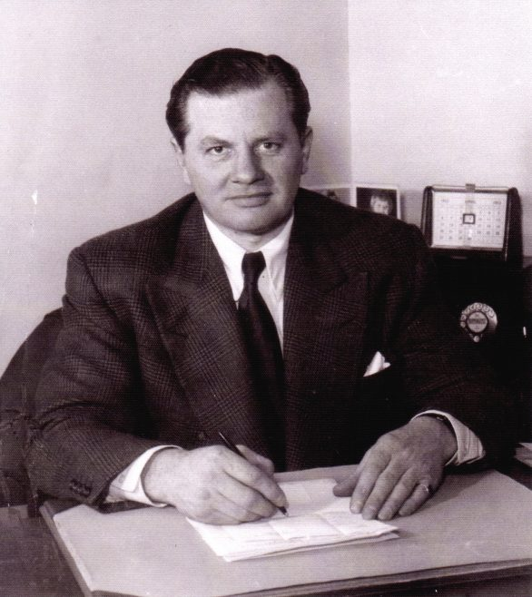 Photo 02.  Francis James Fielding - Managing Director, seated in his office, c.1960s.