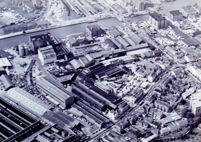 Photo 03.  Aerial view of the factory, c.1970s.