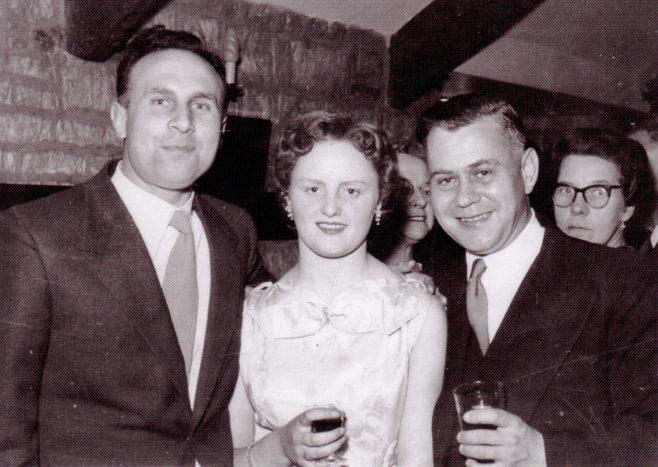 Photo 10.  Ken Daniell; Diane Miller; Bob Madeley. A Tennis Dance at the Royal William, Cranham, circa1960.