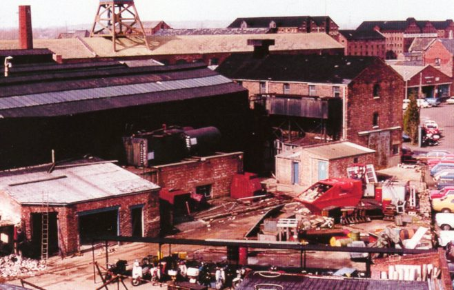 Photo 20.  Demolition of the old Fire Engine house and Church Yard, c.1980.