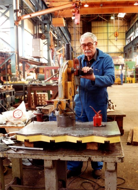 Photo 23.  Jim Brint, working in the new Fitting Shop.