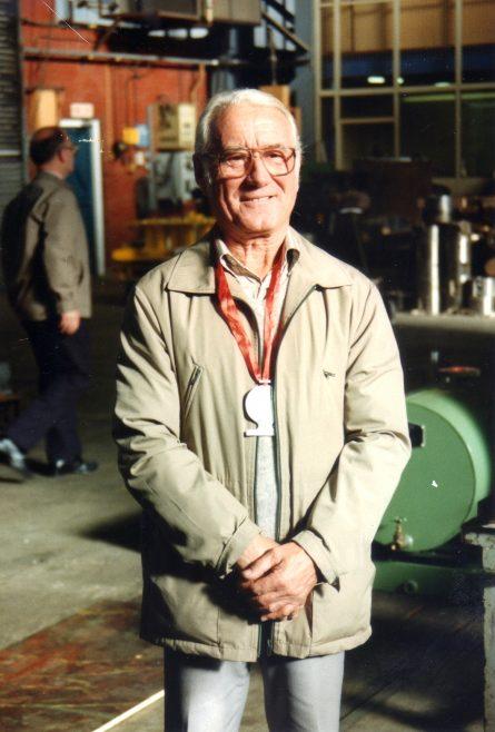 Photo 25.  Albert Grendall, retirement day!