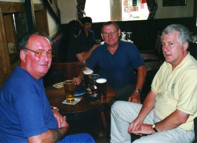 Photo 32.  Dave Barnes; Norman Bidmead; John Toppin.