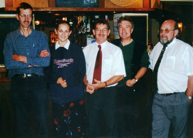 Photo 33.  Tim Lodge;  ?  ; Bob Scott;  ?  ; John Bancroft.
