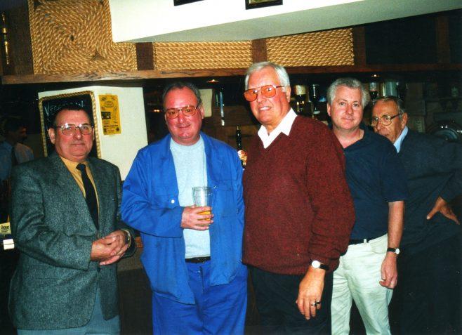 Photo 34.  Norman Bidmead; Dave Barnes; Dave Jones; John Toppin; Ron Yardley.