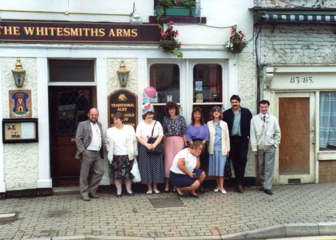 Photo 37.  John Bancroft; Janet May; Helen Andrews; Jackie Byett; Monica Gittings (kneeling);  ?  ; Alexis ? ; Ray Cayliss; Justin Bissell.