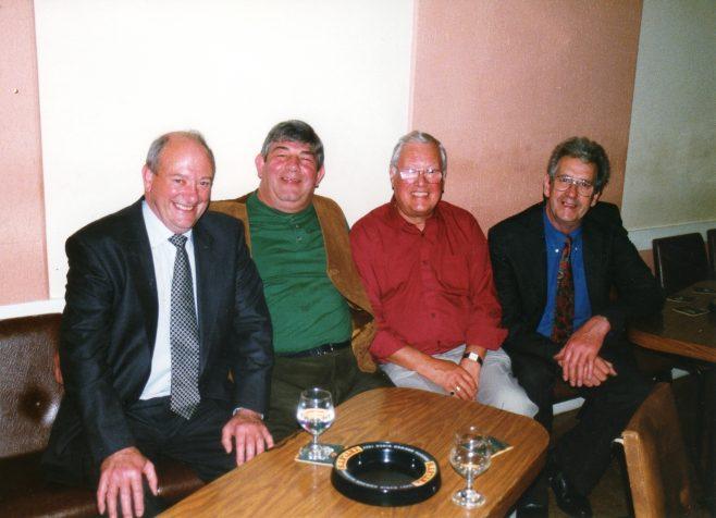 Photo 38.  Frank Bullock; Richard Evans; Dave Jones; Rory Moore.