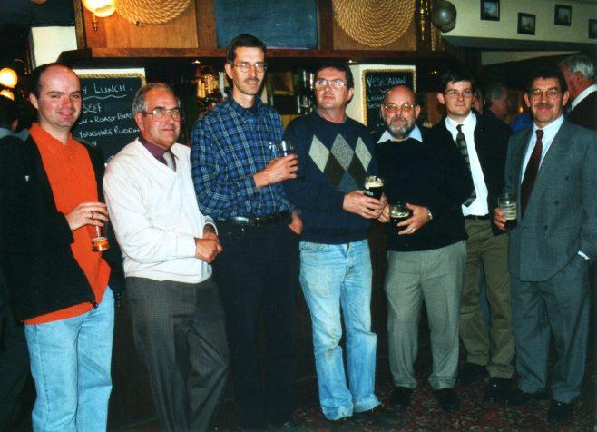 Photo 41.  Justin Bissell; John Ansley; Tim Lodge; Clive Forster; John Bancroft; Steve Baker; Bob Scott.