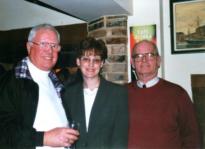 Photo 48. Dave Jones; Jackie Byett; Norman Davenport.