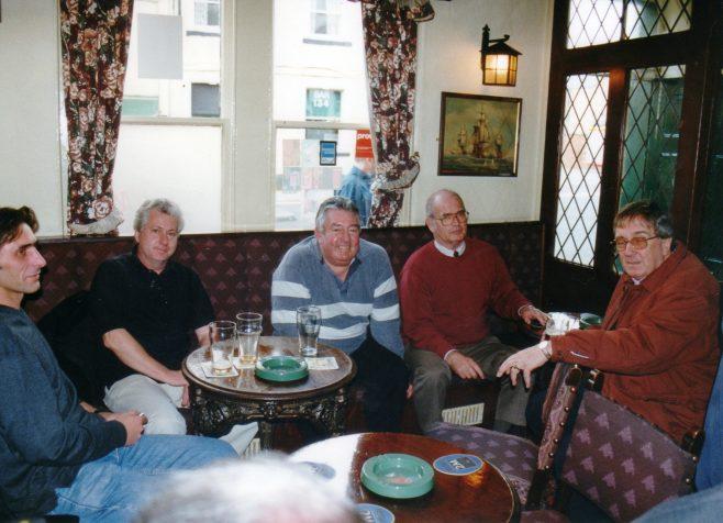 Photo 49.    ?  ; John Toppin; Bill Norton; Norman Davenport; Roger Beard.
