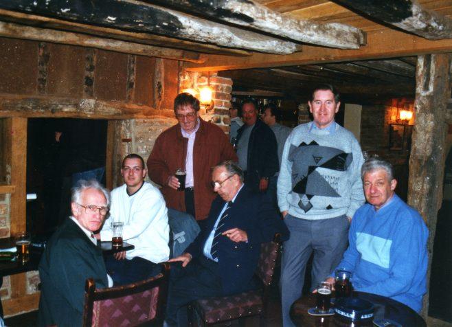 Photo 50.  'Taffy' Hall; Nick Goscombe; Roger Beard; Ron Yardley; Dave Barnes; John Mabbett; Tom Ross.