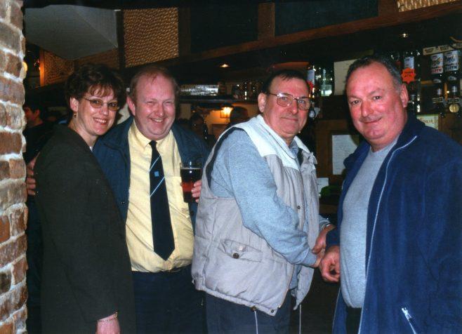 Photo 52.  Jackie Byett; Paul Regester; Norman Bidmead; Dave Barnes.