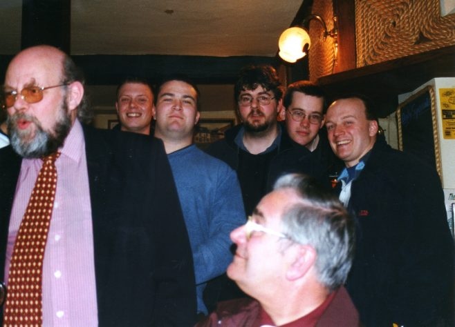 Photo 53.  John Bancroft & John Ansley (foreground);  ?  ;  ?  ;  ?  ;  ?  ; Paul Beard.