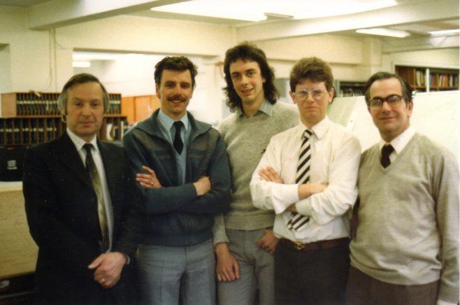 Photo 56.  Brian Billingham; Keith Parker;  ?  ; Andy Michajlowicz; John Ansley.