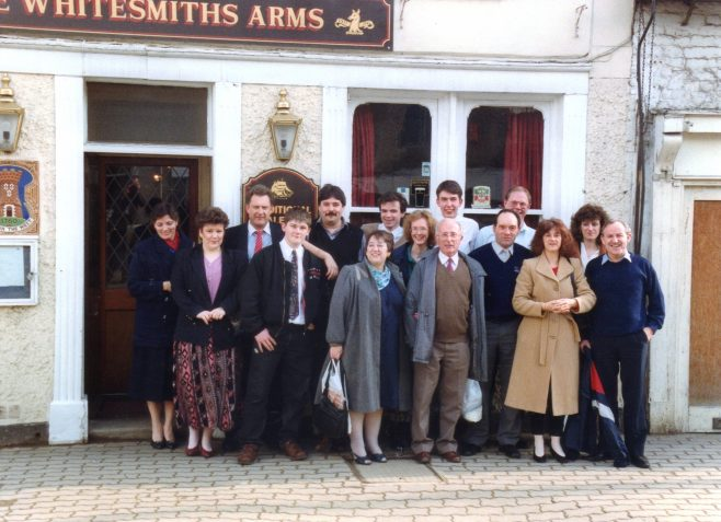 Photo 57.  At the Whitesmiths Arms, 'Yet another excuse for a lunchtime gathering!'