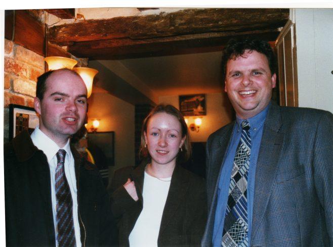 Photo 58.  Justin Bissell; Fiona ?; Tim Gamston.