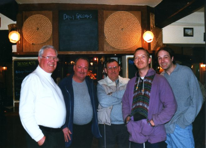 Photo 59.  Dave Jones; Dave Barnes; Norman Bidmead; Darren Hazelden; Nick Denby.