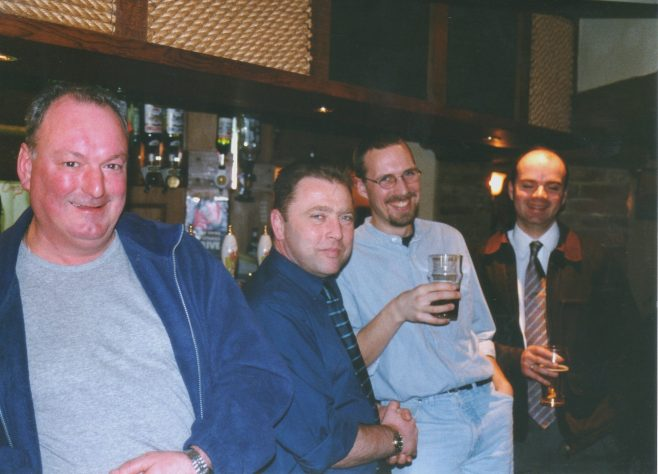 Photo 61. Dave Barnes; Andy Bracewell;  ?  ; Justin Bissell.