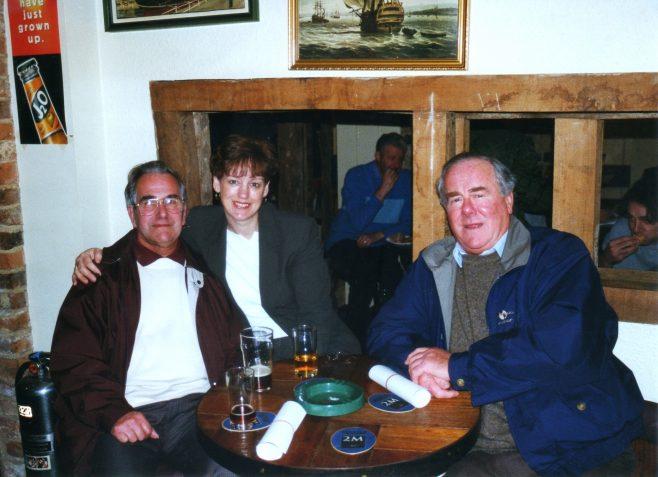 Photo 64.  John Ansley; Jackie Byett; Clarence Hack.