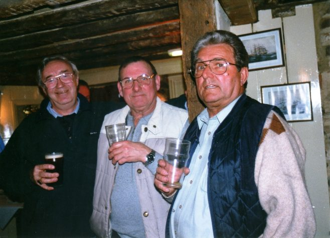 Photo 65.  Dave Taylor; Norman Bidmead; Ted Williams.