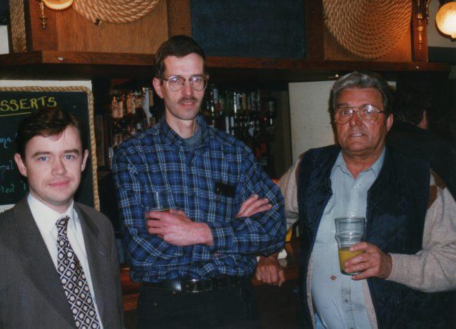 Photo 70.  Stewart Watson (Finance Director); Tim Lodge; Ted Williams.