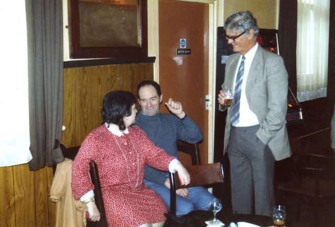 Photo 74.  Janet May; Lionel Longney; Esmond Sergeant.