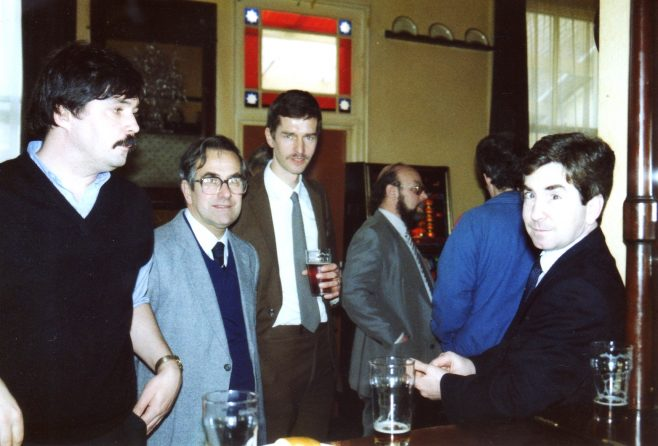 Photo 75.  Ray Cayliss; John Ansley; Tim Lodge; John Bancroft;; Garry Jones.