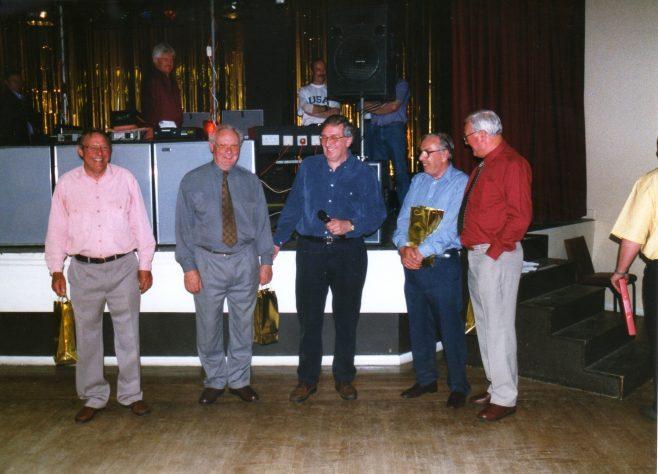 Photo 77.  George Claridge; Roy Hollis; Roger Beard; Ron Yardley; Dave Jones.
