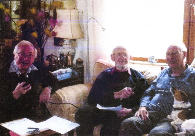 Photo 83.  Brian Mince and John Davis interviewing John Morley, former Personnel Manager.