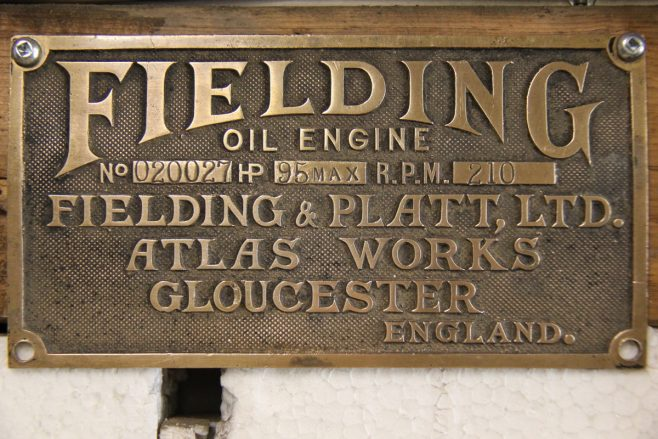 Fielding Oil Engine, Serial No. 020027 | Kindly supplied by Ian Kinzie.