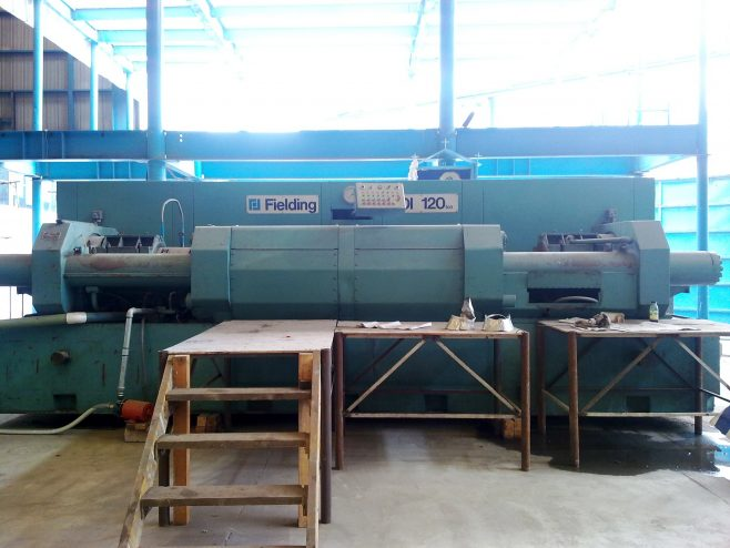 120 ton Double-Ended Deep Drawing & Ironing Machine, O/No. D97720, c.1980