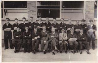 Apprenticeship Intake 1958. Mike is fourth from the right in the back row.