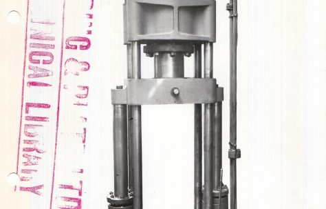 125 ton Vertical Shell Drawing Press, c.1915