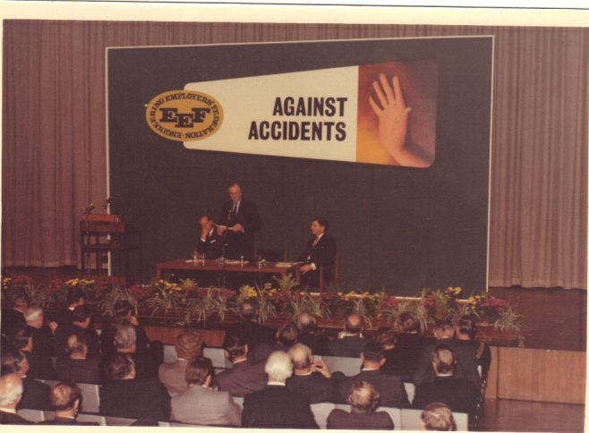 FJ Fielding speaking at the EEF on Safety, with HRH The Duke of Edinburgh on the left. | Andrew J.L Fielding.