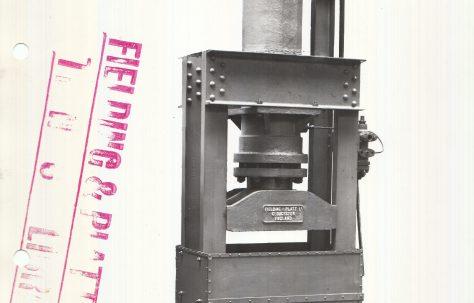 100 ton Pulp Squeezing Press, c.1928