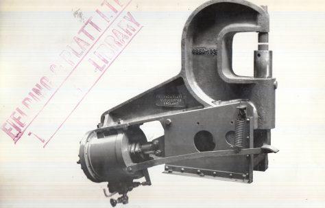 70 ton Pneumatic Rivetter, O/No. 6859, c.1933