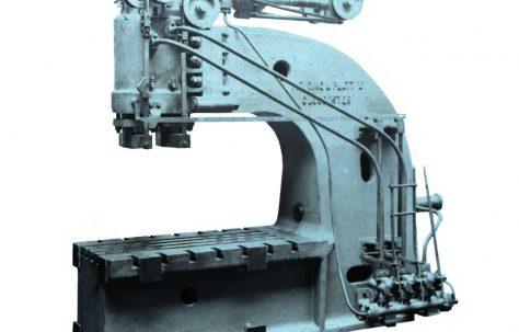 60 ton Hydraulic Flanging Press, O/No. 7384, c.1935