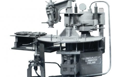 80 ton Three-Station Tile Press, O/No. 7405, c.1935