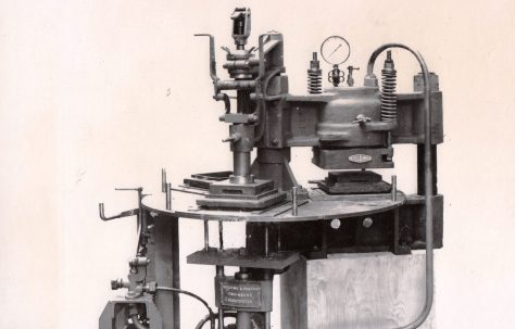 80 ton Three-Mould Tile Press, O/No. 7796, c.1936