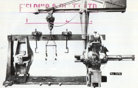 600 ton Wheel Press, O/No. 7519, c.1936