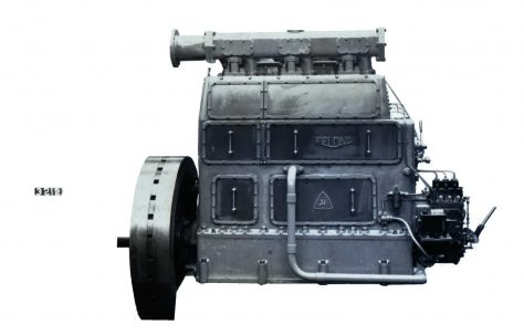 3 - cyl. Vertical Oil Engine, c.1937
