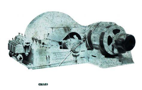 Three-Throw Horizontal MD Pump with B & S Drip Feed Lubrication, O/No. 7824, c.1936