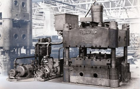 130 ton Flanging Press, view taken on site, O/No. 7651, c.1936