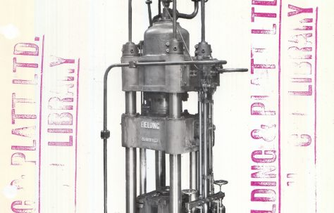 500 ton Cupping & Drawing Press, 2nd view taken on site, O/No. 8134, c.1937