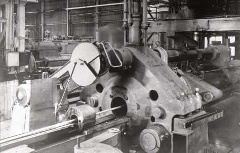 2000 ton Horizontal Extrusion Press, views taken on site, O/No. 7726, c.1936