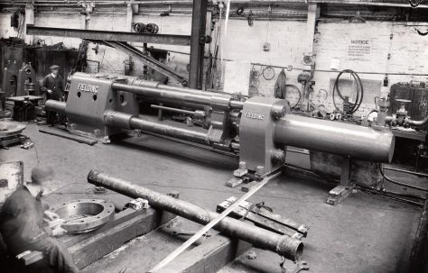 "250 ton Horizontal Shell Drawing Press, for 6"" shells, O/No. 8341, c.1938"