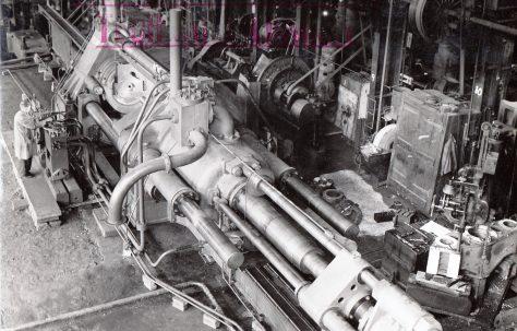1500 ton Horizontal Extrusion Press, views taken at erection and on site, c.1941, O/No. 8526, c.1939