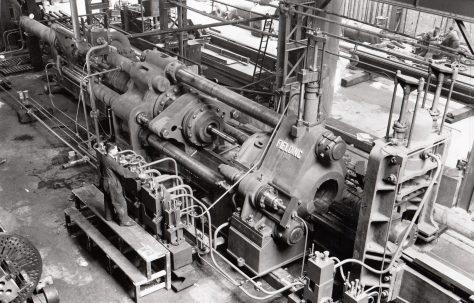 1500 ton Horizontal Extrusion Press, views taken during erection c.1940 and on site c.1944, O/No. 8609, c.1939