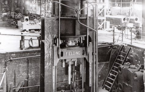 450 ton Vertical Piercing Press, view at erection, O/No. 8649, c.1939