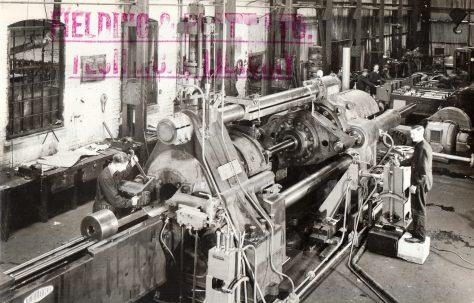 1250 ton Horizontal Extrusion Press, views taken during assembly, O/No. 8659, c.1939
